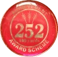 252 100 yards badge